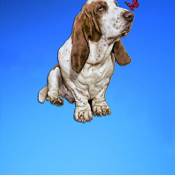 Basset Hound & Butterfly iPhone Case / Cover by dai1976