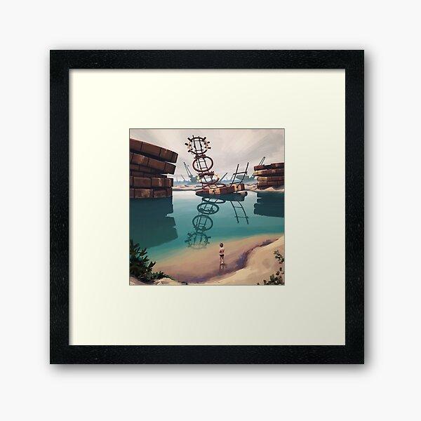 Badplatsen Framed Art Print