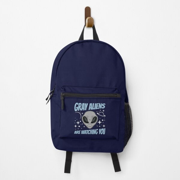 Gray Aliens Are Watching You Extraterrestrial Design Backpack