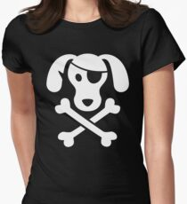 Pirate Dog: Skull and Crossbone Womens Fitted T-Shirt