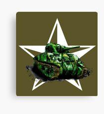 WW2 Sherman Army Tank Canvas Print