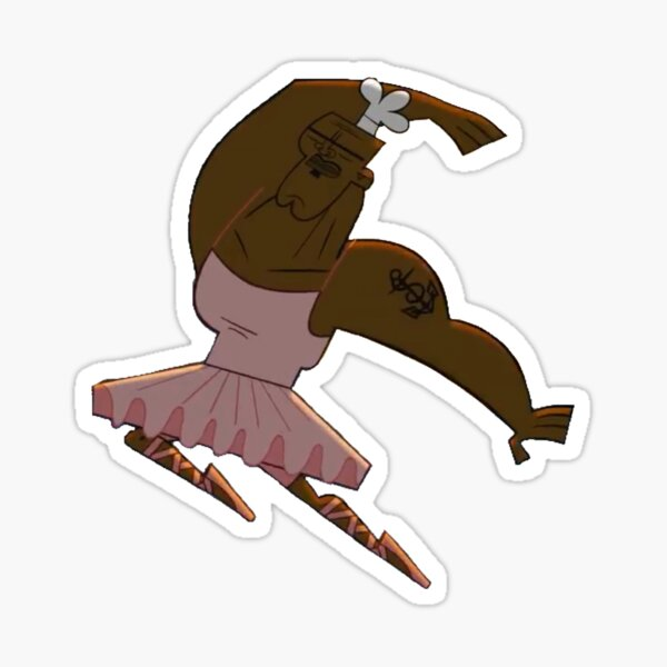Chef from total drama doing ballet Sticker