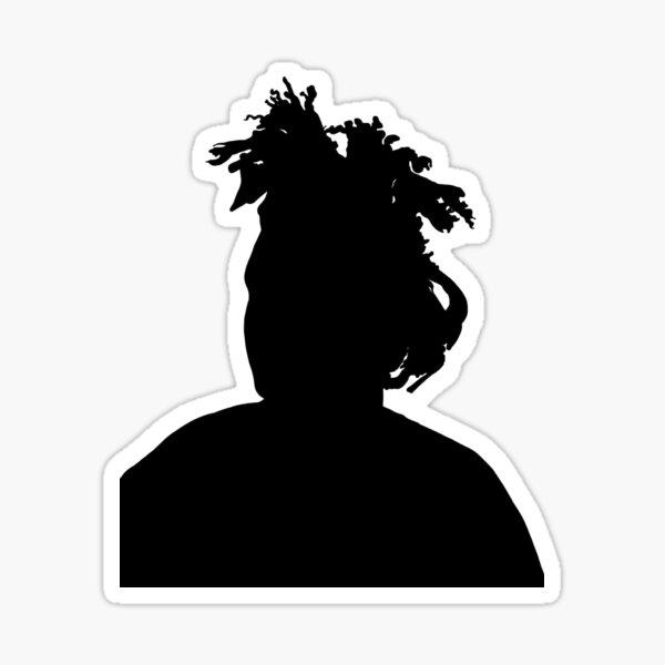 the weeknd silhouette Sticker