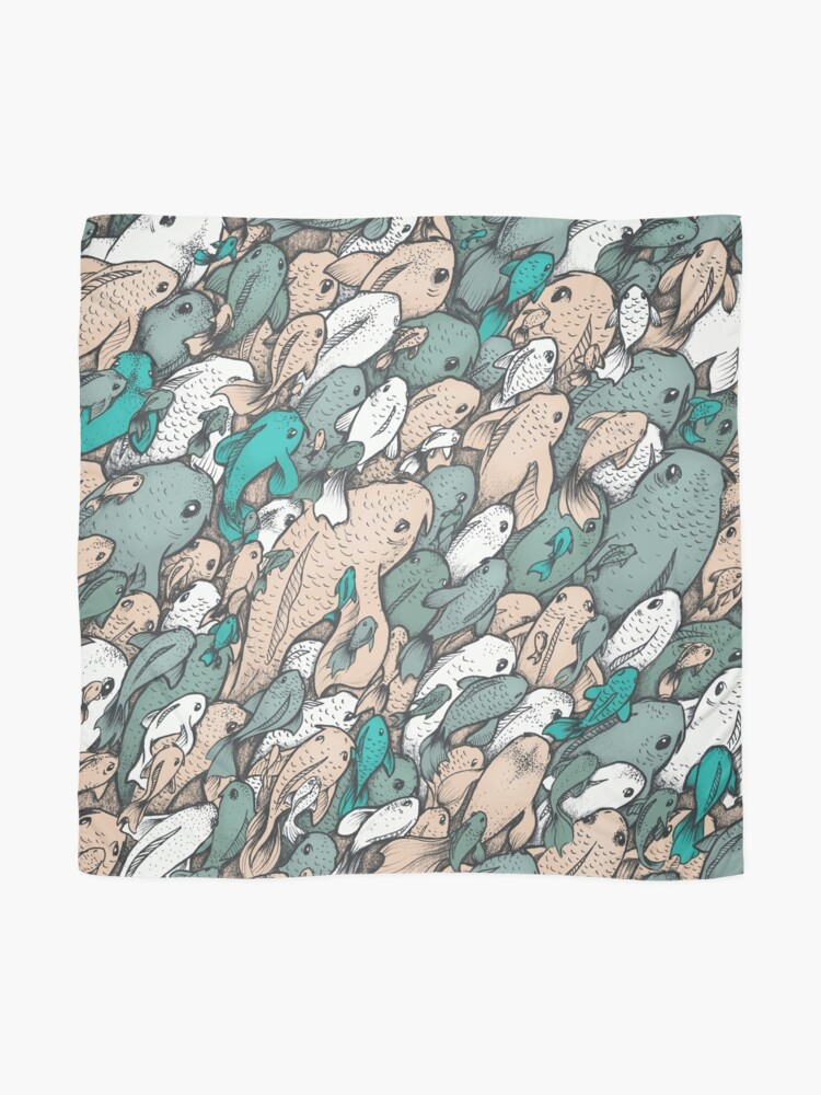Alternate view of Fishes - blue Scarf
