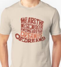 Willy Wonka Hat Dreams - Brown T-Shirt