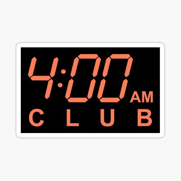 4am Club - Night Owl Sticker
