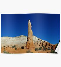 Rock tower and mountains, Utah Poster
