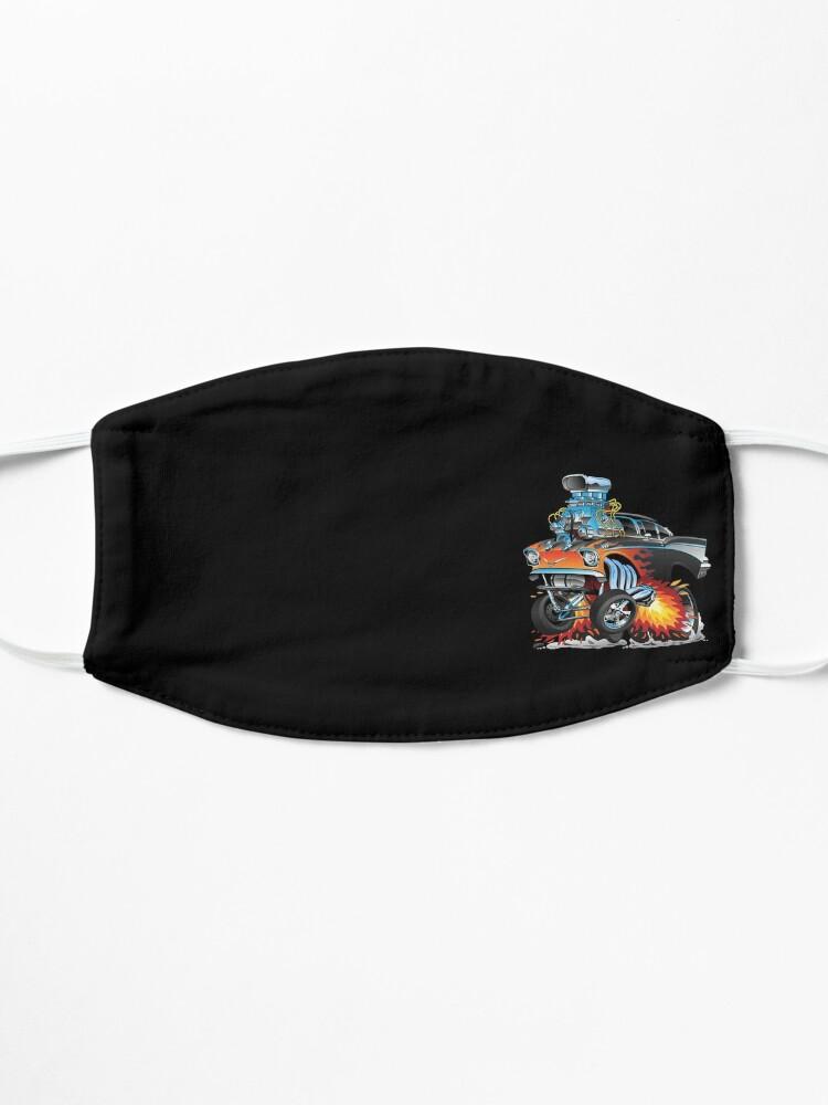 Alternate view of Classic hot rod 57 gasser drag racing muscle car cartoon Mask
