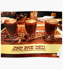 Three in a Row ( 2nd Avenue Deli, NYC ) Poster