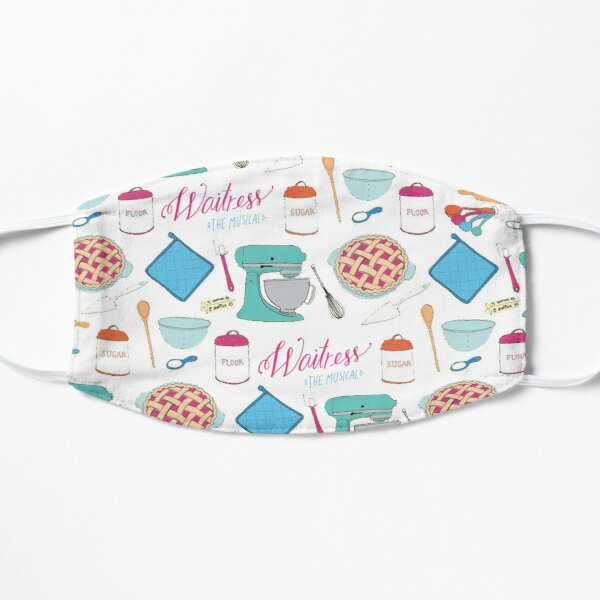 Waitress the Musical Pattern Flat Mask