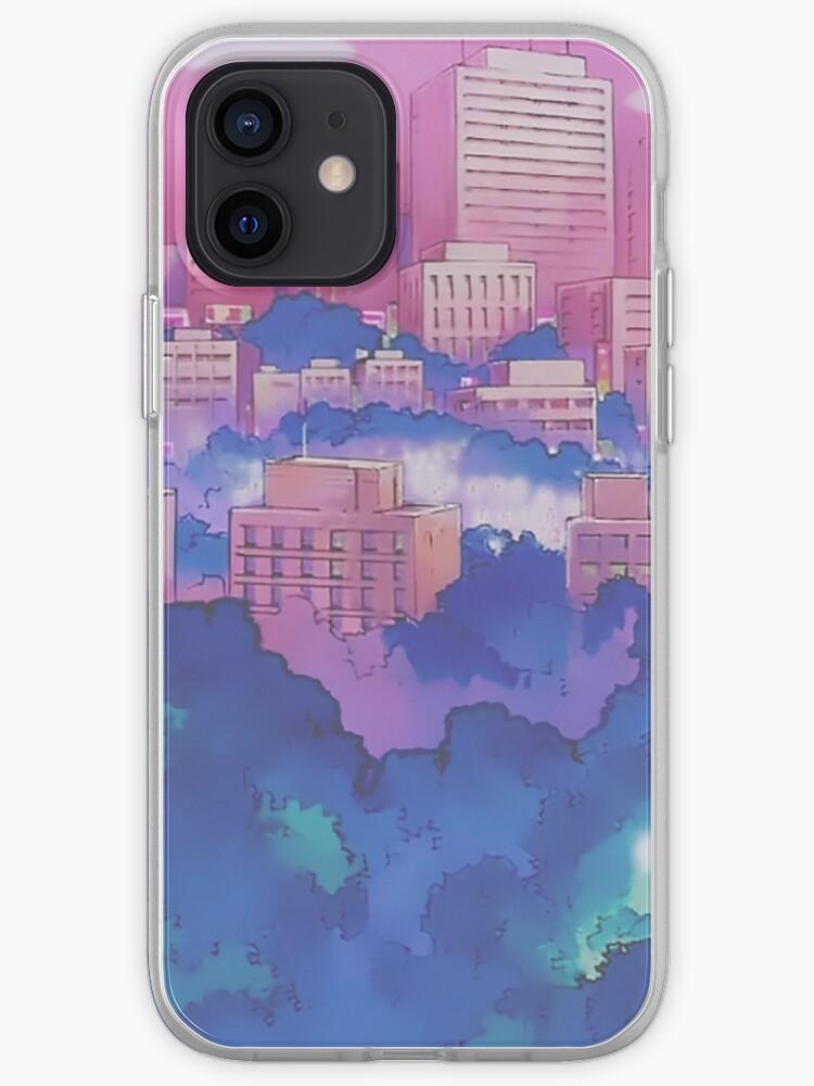 Sailor Moon Pink City Dream Landscape | iPhone Case & Cover
