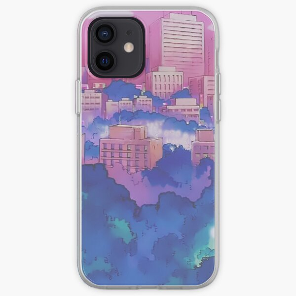 Sailor Moon Pink City Dream Landscape  iPhone Soft Case