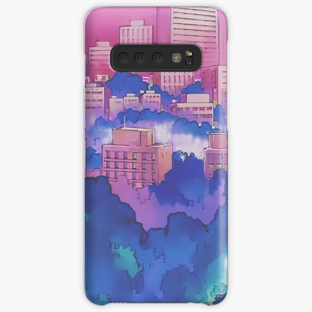 Sailor Moon Pink City Dream Landscape  Case & Skin for Samsung Galaxy