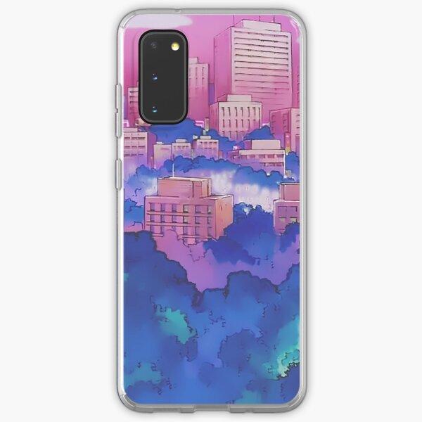 Sailor Moon Pink City Dream Landscape  Samsung Galaxy Soft Case