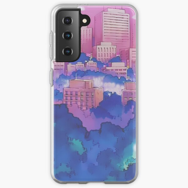 Sailor Moon Pink City Dream Landscape  Samsung Galaxy Soft Case