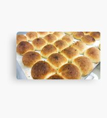 Lot of bread rolls Canvas Print