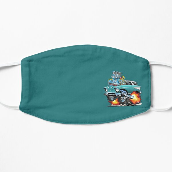 Classic Fifties Hot Rod Muscle Car Cartoon Mask