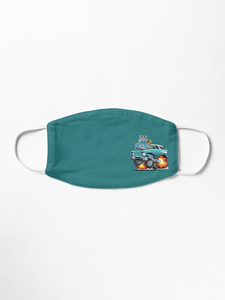 Alternate view of Classic Fifties Hot Rod Muscle Car Cartoon Mask