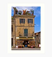Grocery Store, Castiglione de Lago Art Print