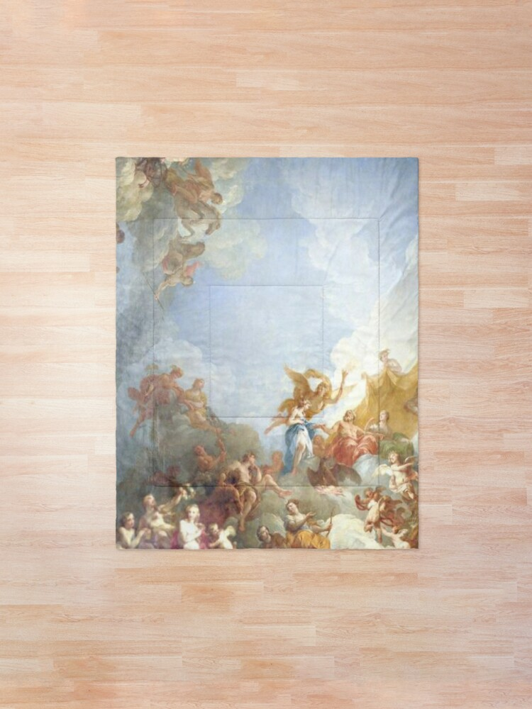 Alternate view of Ceiling at Versaille Renaissance Painting  Comforter