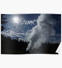Powerful geyser, Yellowstone Poster