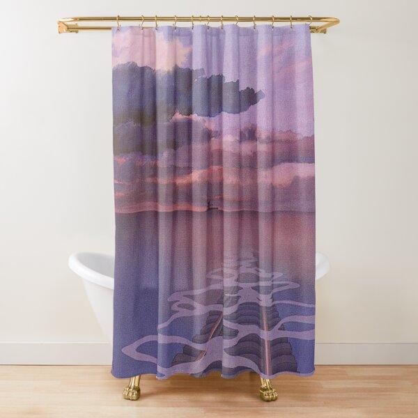 Spirited Away Railroad Nighttime Aesthetic Shower Curtain