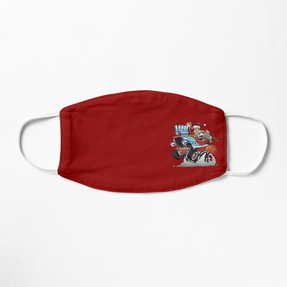 Hot Rod Santa Christmas Cartoon Mask