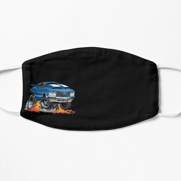 Classic Seventies American Muscle Car Hot Rod Cartoon Illustration Mask