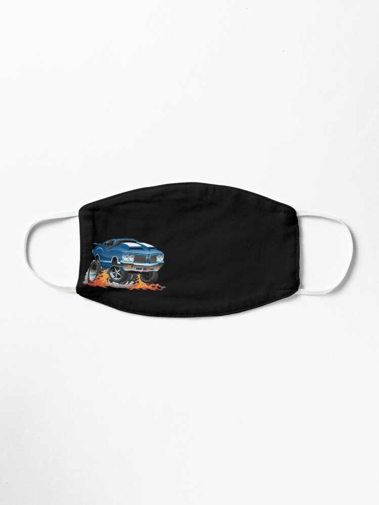 Alternate view of Classic Seventies American Muscle Car Hot Rod Cartoon Illustration Mask