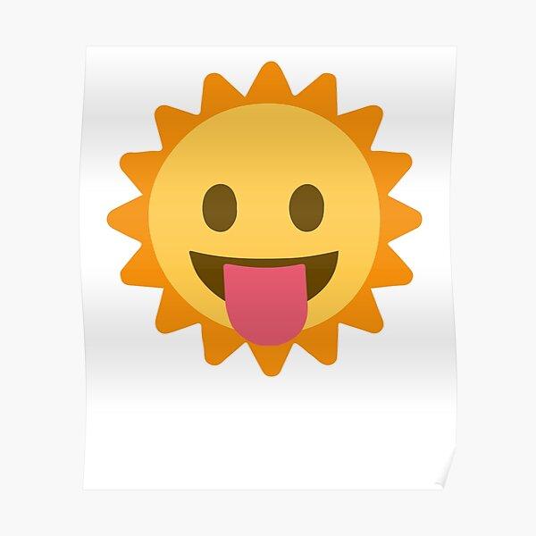 Baby Sun Emoji Lengua fuera Póster