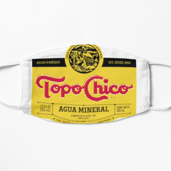 Topo Chico mexican mineral water Flat Mask