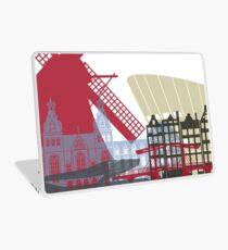 Amsterdam skyline poster Laptop Skin
