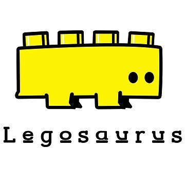 Legosaurus funny nerd geek geeky by setiaginting