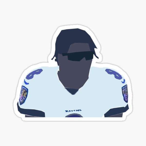 Lamar Jackson Drawing Sticker