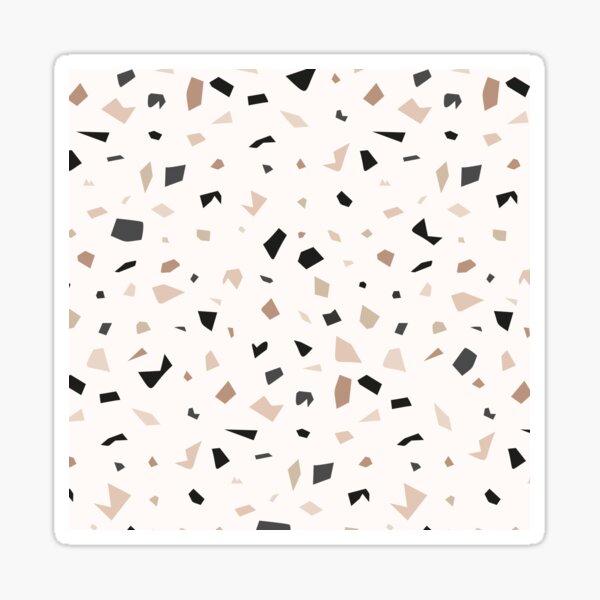 Terrazzo Earthy Marble Pattern Sticker
