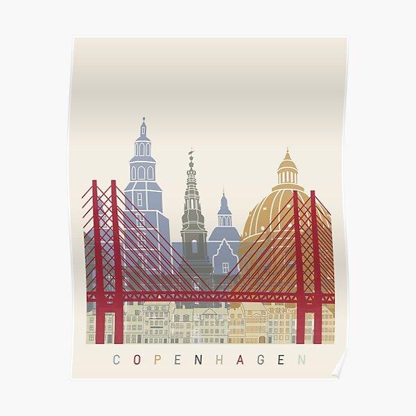 Copenhagen skyline poster Poster