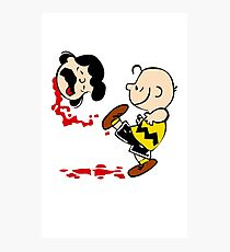 Lucy is a punt charlie brown funny nerd geek geeky Photographic Print