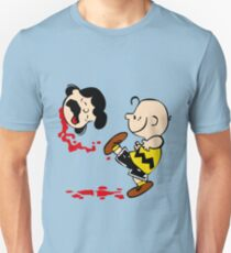 Lucy is a punt charlie brown funny nerd geek geeky T-Shirt