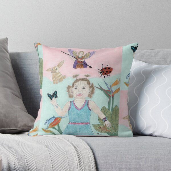 A Child's Light Throw Pillow