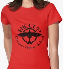 Hiccup's Dragon Flying School Womens Fitted T-Shirt