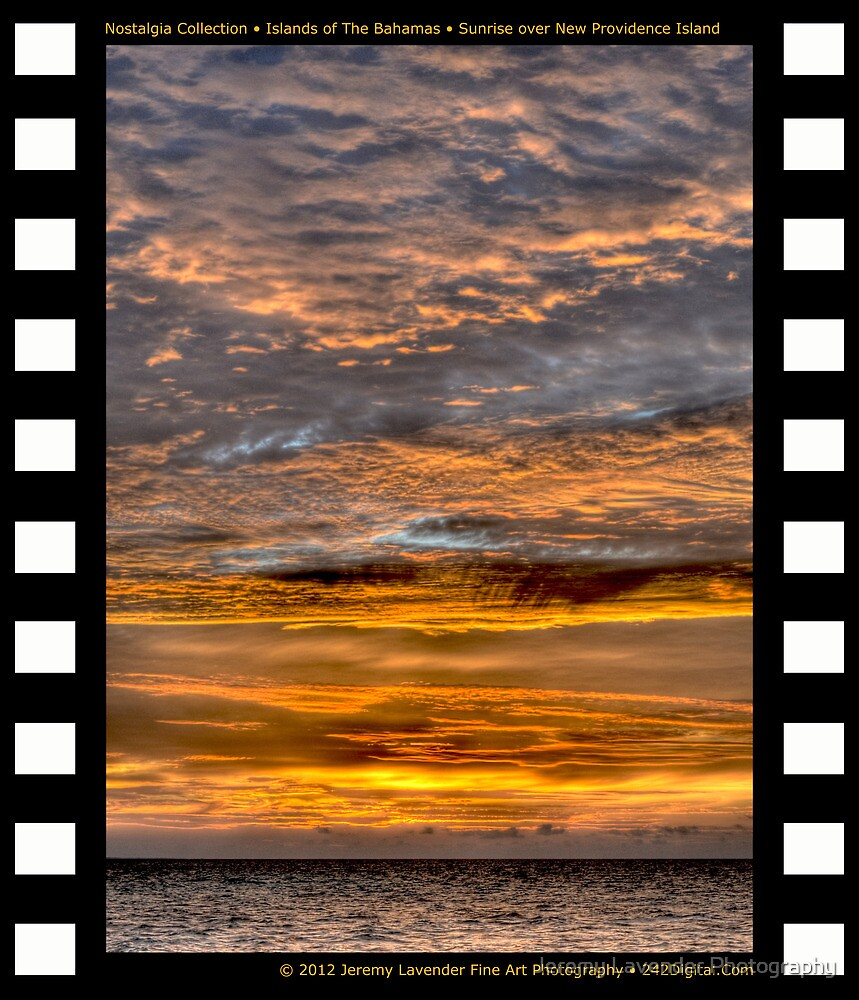 Nostalgia Collection • Islands of The Bahamas • Sunrise over New Providence Island by Jeremy Lavender Photography