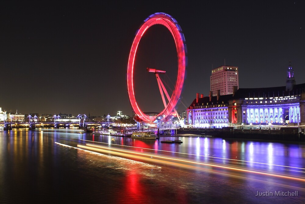 Thames River, London, England, UK * by Justin Mitchell