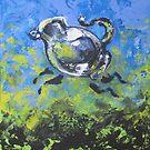 Blue Frolic by Ellen Marcus