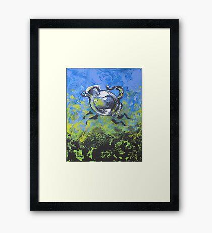 Blue Frolic Framed Print