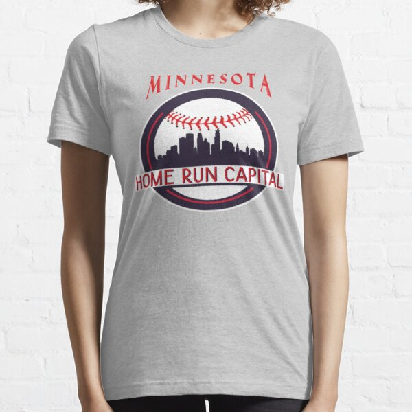 Minnesota Baseball Home Run Men Women Kids Essential T-Shirt