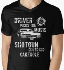 Driver Picks the Music Men's V-Neck T-Shirt
