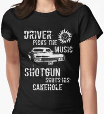 Driver Picks the Music Women's Fitted T-Shirt