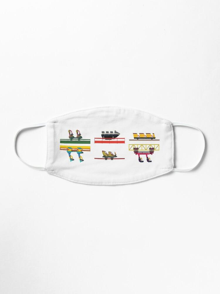 Alternate view of Dorney Park Coaster Cars Design Mask