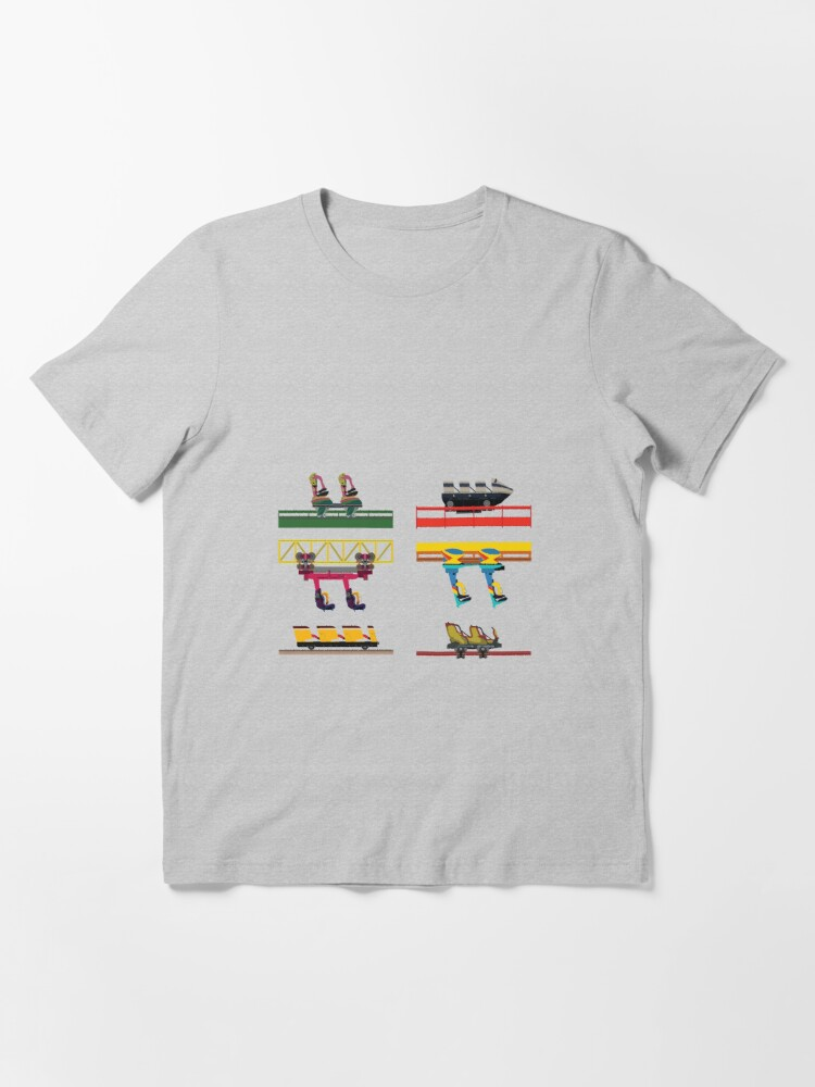 Alternate view of Dorney Park Coaster Cars Design Essential T-Shirt