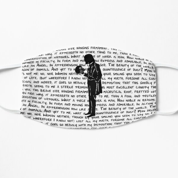 Hamlet Silhouette with Yorick's Skull Mask